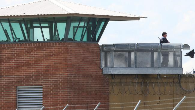 A guard in a tower at Goulburn Correctional Centre saw a drone hovering above the prison.