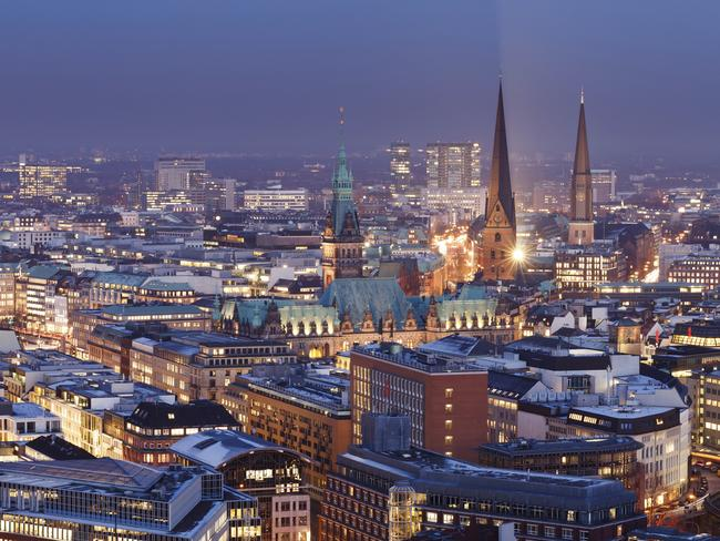 Hamburg is the world's best city for a night out, and not only because it looks spectacular at night. Picture: iStock
