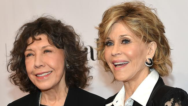 If there's anyone who can get away with making a facelift joke about Jane Fonda (right), it's friend and co-star Lily Tomlin. Picture: Getty