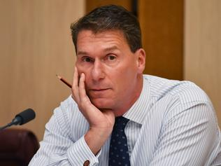 Australian Conservatives Senator Cory Bernardi attends Senate Estimates at Parliament House in Canberra, Monday, Feb. 27, 2017. (AAP Image/Mick Tsikas) NO ARCHIVING