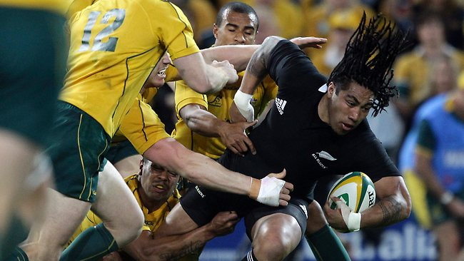 DANGER MAN: Wallaby backs Digby Ioane and Pat McCabe will have the tough task of shutting down All Blacks star centre Ma'a Nonu in the World Cup semi-final tomorrow. Picture: AP