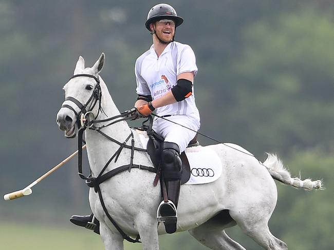 Prince Harry was all about his polo match.