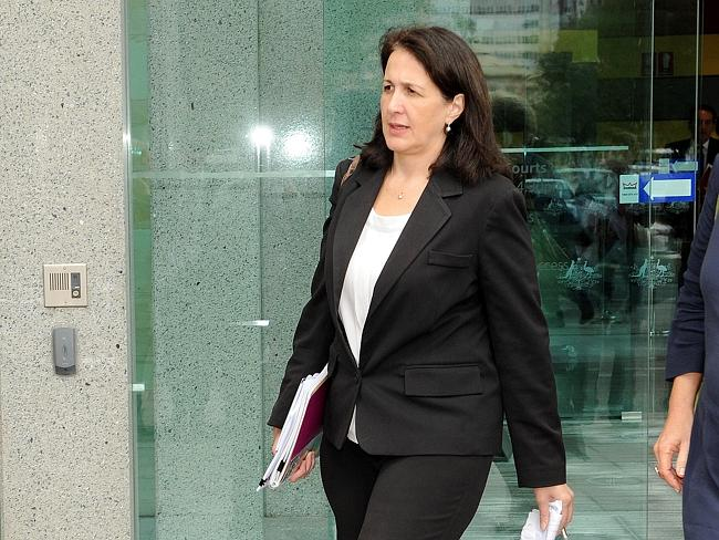 Sophie David outside the hearing. Picture: Greg Higgs