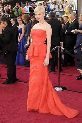 Actress Michelle Williams arrives at the 84th Annual Academy Awards on February 26, 2012. Picture: Jason Merritt/Getty Images