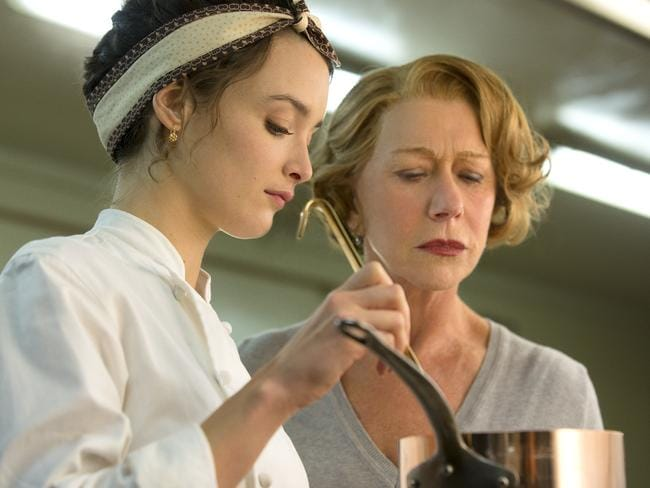 Marguerite (Charlotte Le Bon) and Madame Mallory (Mirren) in  <i>The Hundred-Foot Journey</i>. Picture: Supplied