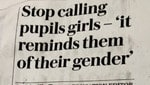 'The world is over.' Teachers told to stop calling students 'girls'. Picture: Twitter/Piers Morgan.