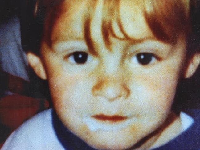 James Bulger was two years old when he was abducted and murdered. Picture: News Corp