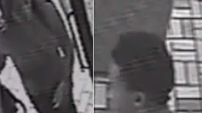 Horrific ... a composite image shows the pair entering the restaurant before the violent attack.