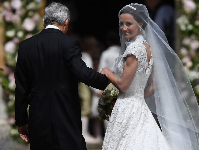 Pippa Middleton hit the headlines with a figure-hugging outfit at her sister Kate's wedding to Prince William but now the world-famous bridesmaid is becoming a bride herself. Picture: Justin Tallis