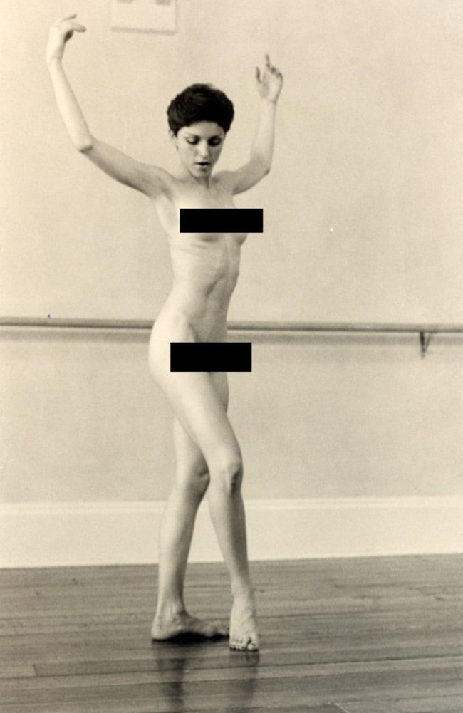 Madonna strikes a ballet pose in the nude as an 18-year-old woman. Picture: Gotta Have it Rock and Roll
