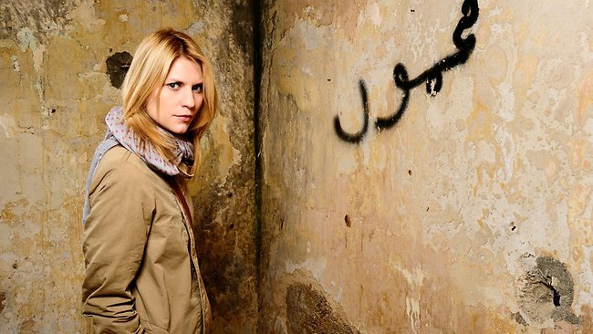 Actor Claire Danes from the TV program 'Homeland'.