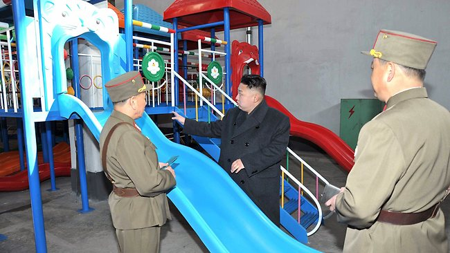 """""""Dennis Rodman bought me this for my birthday party."""" Picture: AFP"""