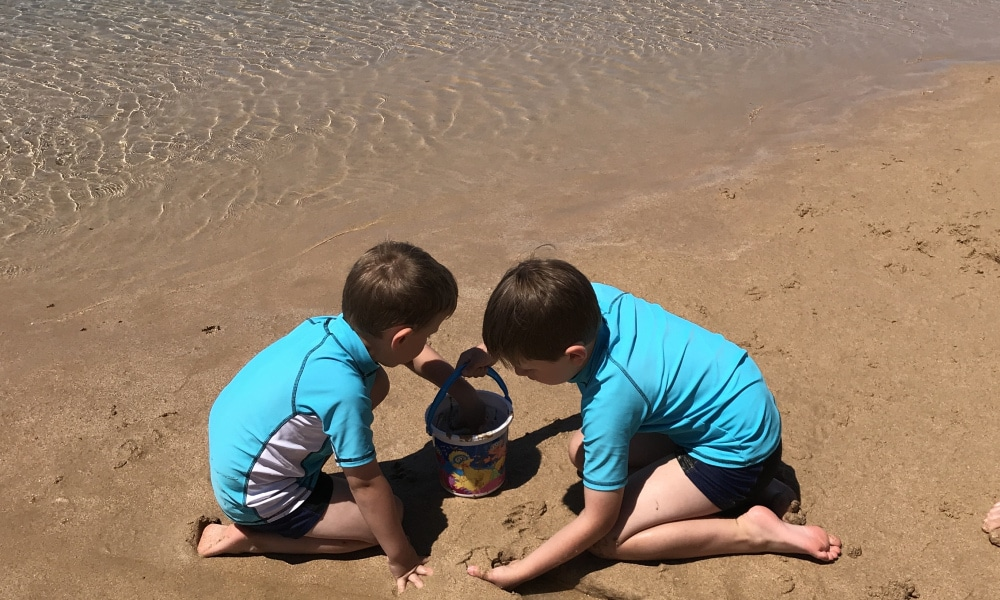 Henry and Jack now enjoy going to the beach