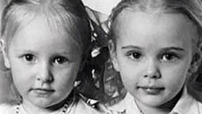 Putin's daughters Maria and Katerina in a picture from his personal archive.