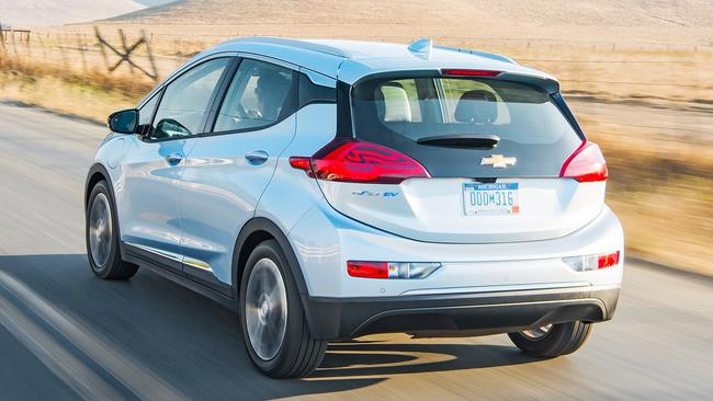 The Chevrolet Bolt electric car is left-hand-drive only for now, but Holden is likely to get the next one due in 2022. Picture: Supplied.