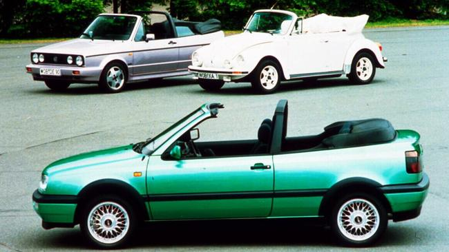 First car: Golf convertible.
