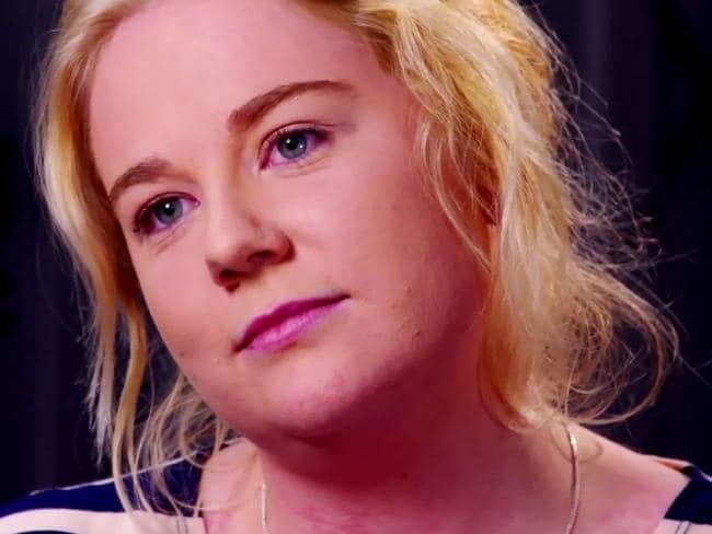 Cassie Sainsbury came across oddly relaxed throughout the prison interview. Picture: Channel 9.