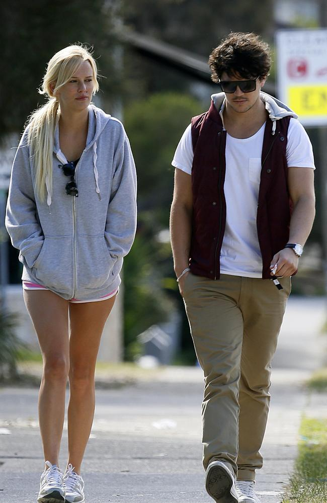 Jade Albany and Daniel Churchill took a stroll after breakfast in Bondi. Picture: Diimex