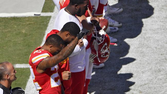 National Football League season opens with 9/11 patriotism and protests in Seattle, Kansas City