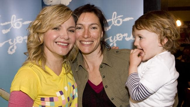 TV MUMS: The Time Of Our Lives co-stars Justine Clarke and Claudia Karvan with her son Albie