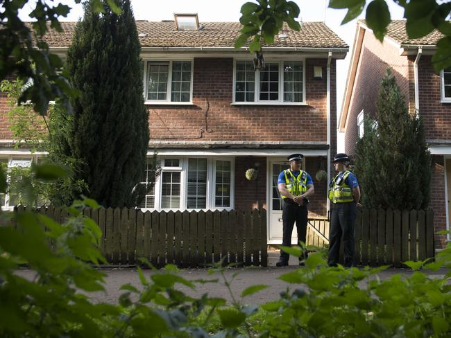 Darren Osborne's home in Cardiff, Wales is searched by police. Picture: Matthew Horwood/Getty Images