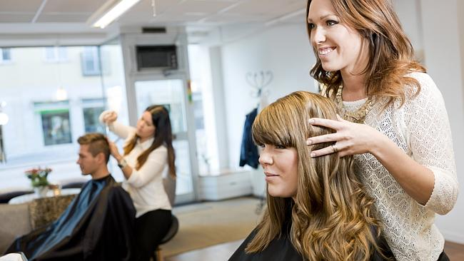 Female hairdressers earn more than their male counterparts on average. Picture: Thinkstock