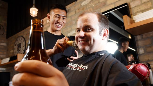 Barber Shop Games : by barber Le Tan while enjoying a beer at Tommy Guns Barber shop ...