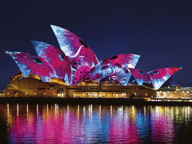 Lighting the Sails at Sydney Opera House, makes it come alive with light and music.
