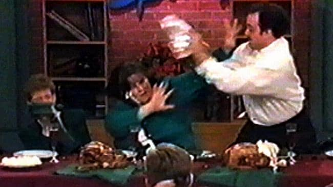 """An on-screen family fights over a """"holiday from hell"""" on Jerry ..."""