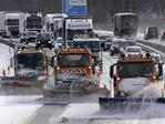 Snow plows remove snow from highway A19 near Rostock eastern Germany, Tuesday, Feb. 27, 2018. Picture: AP