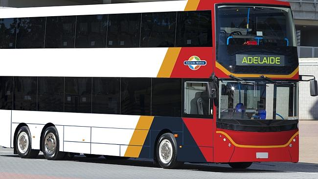 An artist's impression of how Adelaide's new double-deckers will look. Supplie...