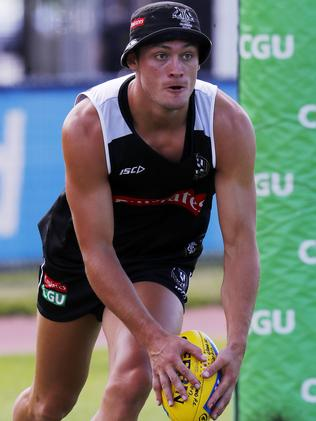Darcy Moore will play in a VFL practice match on Friday. Picture: Michael Klein