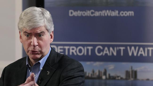 Flint can't wait either ... Michigan Governor Rick Snyder. Picture: Jeff Kowalsky/Bloomberg