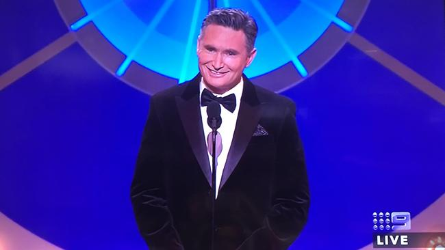 Dave Hughes opens the 58th Annual TV Week Logie Awards. Picture: Channel 9