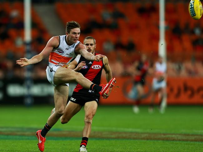 Greater Western Sydney's Jed Lamb in action in the GWS Giants v Essendon Bombers at Spotless Stadium in Homebush game. Picture: Toby Zerna