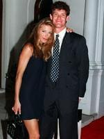 James Packer with model girlfriend Jennifer Flavin at Elle magazine fifth birthday bash.