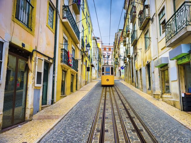 Portugal old town streets and streetcar. Picture: iStock