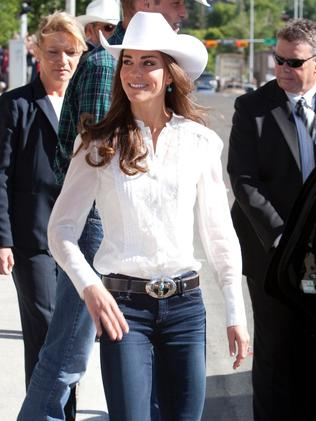 Catherine, Duchess of Cambridge attends the Calgary Stampede in 2011.