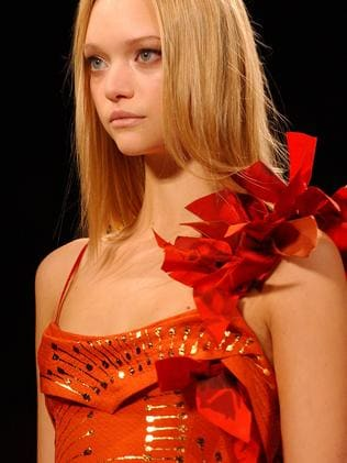 Australian model Gemma Ward during the fall 2006 collection from Carolina Herrera. Picture: Supplied