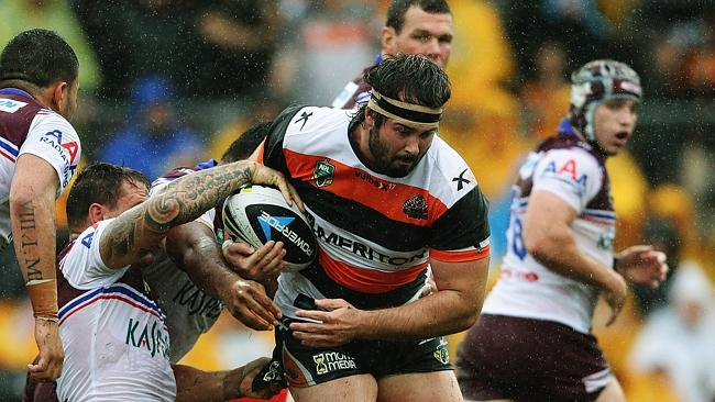 Aaron Woods' irresistible form has him squarely in the frame for Origin selection. Pic Brett Costello