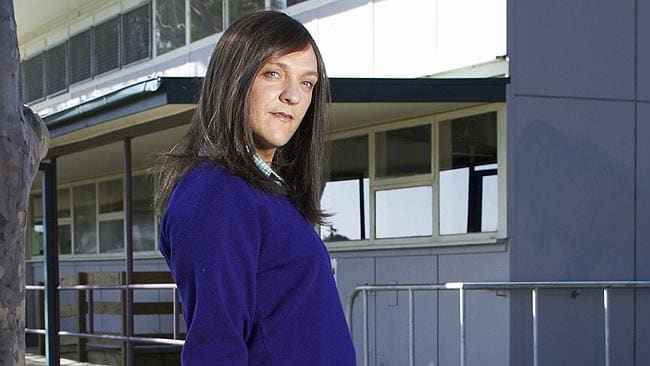 Actor Chris Lilley as schoolgirl character Ja'mie King from TV show 'Summer Heights High'. Picture: ABC TV