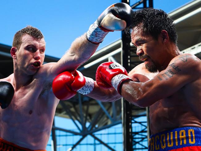 Jeff Horn fires a jab at Manny Pacquiao.