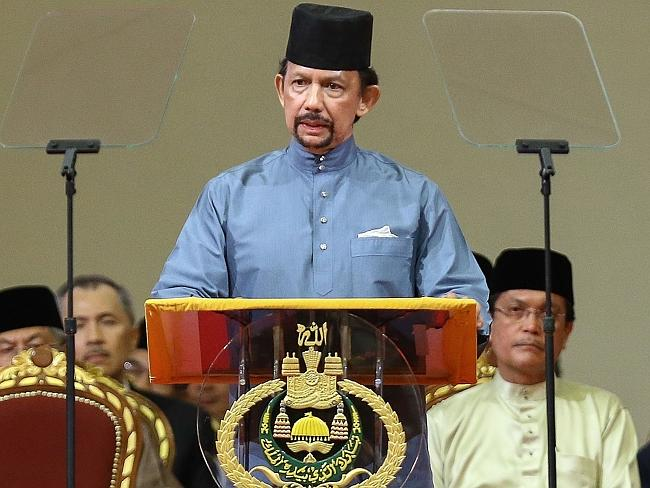 Contentious new laws ... Brunei's Sultan Hassanal Bolkiah proclaims Sharia Law in Bandar