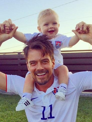 "Adorable new father Josh Duhamel posts, ""GO #USA!!! (or a Portugal/Ghana tie would be fantastic)"" Picture: Instagram"