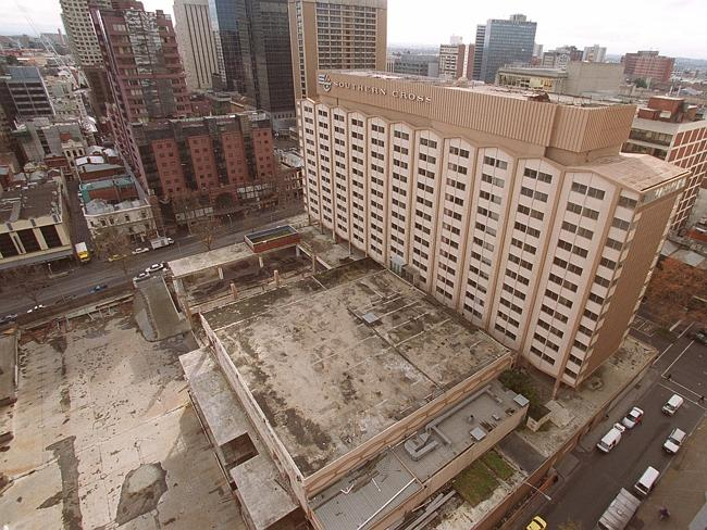 The Eastern Market was torn down to make way for the Southern Cross Hotel, which was late