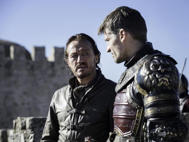 Will he or won't he? Game Of Thrones star Bronn played by Jerome Flynn. Picture: Supplied/Foxtel