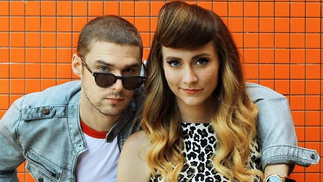 American pop duo Karmin raced up iTunes after performing Acapella on X Factor. Photo: Mark Evans.