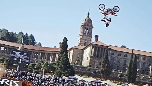Josh Sheehan in action at the Red Bull X-Fighters World Tour in South Africa