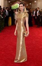 """Anne Hathaway attends the Met Gala 2015 """"China: Through The Looking Glass"""". Picture: Getty"""