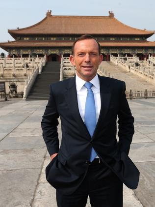Ruffling feathers ... Tony Abbott visited the Forbidden City in Beijing earlier this year.